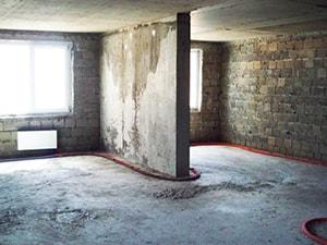 Черновая отделка помещения